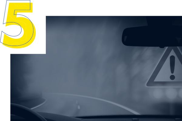 Identifica los tramos de carretera peligrosos